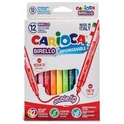 Carioca viltstift Dubbelpunter Birello Superwashab 12 stiften