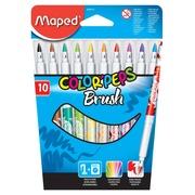 Maped feutre pinceau Brush, 10 pièces en étui cartonné