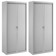 Pack tambour cabinets Union H 195 cm grey - buy 1 = get 1 free