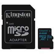 Kingston Canvas Go! - flashgeheugenkaart - 64 GB - microSDXC UHS-I