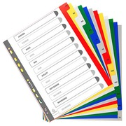 Dividers A4+ polypropylene colored Exacompta 12 divisions monthly multicolored - 1 set
