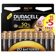 15 AA Alkaline Batterien - LR6 Duracell Plus Power + 5 gratis