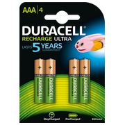 Pile rechargeable AAA-HR3 Duracell Stay charged - Blister de 4 accus