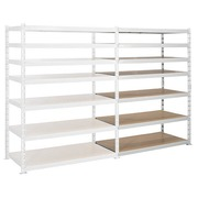 Archive rack Archiv' Eco 2 - extension element H 200 x W 150 x D 70 cm galvanized steel plate double access