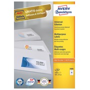 Avery Zweckform 3484 étiquettes multi-usages ft 105 x 37 mm (b x h), 1.600 étiquettes, blanc