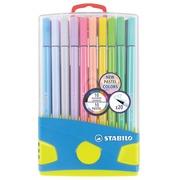 Stabilo viltstift Pen 68, etui met 20 stuks in geassorteerde pastel kleuren