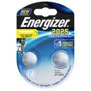 Knopfzelle Ultimate Lithium CR2025 Energizer - Blister von 2 Batterien