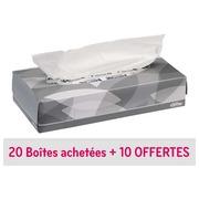 Pack 20 + 10 dozen met witte zakdoeken Kleenex - doos van 100