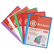 Transparante, personaliseerbare documentbeschermers Bruneau polypropyleen A4 10 hoesjes - 20 zichten assortiment