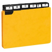 Guide card 105 x 148 mm Exacompta yellow - set of 24