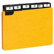 Guide de classement 105 x 148 mm Exacompta jaune - Jeu de 24