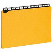 Guide de classement 210 x 297 mm Exacompta jaune - Jeu de 24