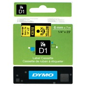 DYMO D1 - label tape - 1 roll(s) - Roll (0.6 cm x 7 m)
