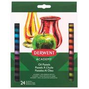 Derwent oliepastels Academy , blister van 24 stuks in geassorteerde kleuren