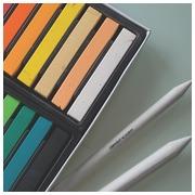 Derwent softpastels Academy , blister van 12 stuks in geassorteerde kleuren
