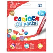 Carioca pastels à l'huile, boîte de 24 pièces en couleurs assorties
