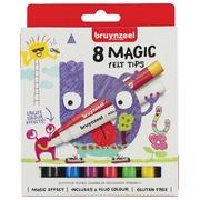 Bruynzeel Magic feutres de coloriage, étui de 8 pièces