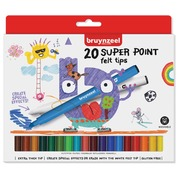 Bruynzeel Kids feutres Super Point, set de 20 stuks en couleurs assorties