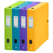 Klassifizierungsbox Plastik Elba Memphis Rücken 6 cm Sortiment von trendy Farben