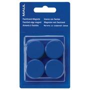 Maul aimant MAULsolid, diamètre 20 mm, bleu, blister de 8 pièces