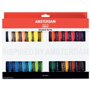 Amsterdam acrylique, 24 tubes de 20 ml en couleurs assorties
