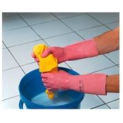 Paar huishoudhandschoenen Latex roze Vital 115 Mapa - maat 9