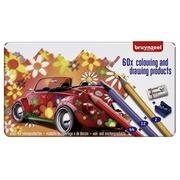 Crayons de couleur Bruynzeel Super Sixties Coccinelle boîte de 60 pièces