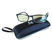 Glasses male blue light filter black frame