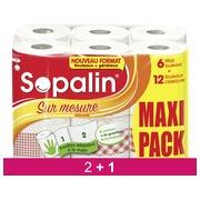 Pack 2x6 rouleaux essuie-tout Sopalin décoré + 1x6 offert