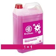 Pack 1 + 1 Nettoyant sols et surfaces Bruneau floral - Bidon de 5 litres