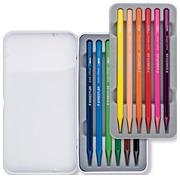 Staedtler crayon aquarelle Massief, boîte métallique avec 12 crayons