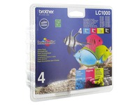 Pack van cartridges Brother LC1000 zwart en kleur