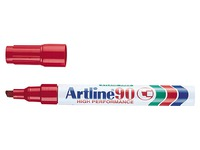 Marker Artline 90 chisel tip 2 mm / 5 mm - red
