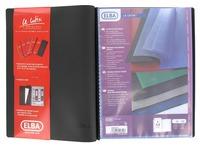 Non-transparent document protectors Le Lutin classic Elba black 50 sleeves