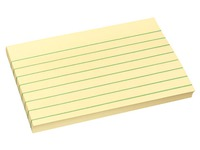 Notes repositionnables jaune ligné Post-it 76 x 127 mm - bloc de 100 feuilles