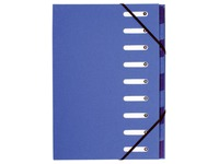 Recycled sorting files Forever 9 divisions - blue