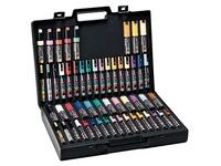 Koffer mit 54 Markierstiften Uni Ball Posca - farbig sortiert