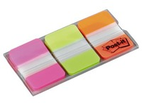 Marque-pages strong couleurs unis néons Post-It Strong - distributeur de 66 index