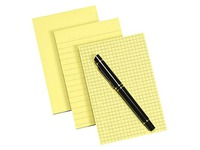 Bloc-notes jaune ligné Post-It 102 x 152 mm - bloc de 100 feuilles