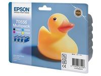 Pack van 4 cartridges Epson T0556 zwart + kleur