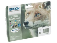 Pack de 4 cartouches Epson T1285 noire + couleurs