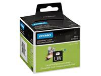 Etiquette disquette papier 54 x 70 mm Dymo S0722440 blanche - Rouleau de 320