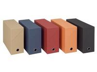 Boîte de classement carton Adine dos 12 cm couleurs assorties