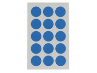 Adhesive labels Ø 19 mm Agipa 11196 blue - Pack of 90
