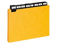 Game of 25 guide cards 148 x 210 mm Exacompta yellow