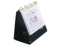Presentation binder Exashow 4 rings plastic A4 back 4 cm black