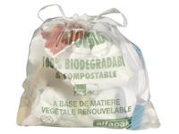 Box with 250 translucent garbage bags 20 L compostable Autobio