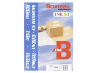 Box of 2000 address labels Bruneau white 105 x 57 mm for ink jet printer