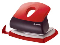 Perforator JM Bruneau 2 holes - capacity 20 sheets - red/black