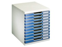 Modulo 10 drawer set, H 1.5 cm, blue